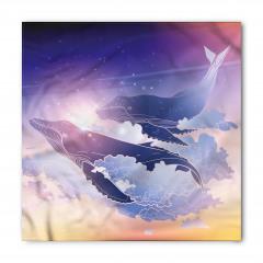 Uçan Lacivert Balinalar Bandana Fular