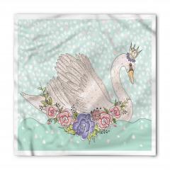 Kraliçe Kuğu Desenli Bandana Fular