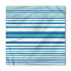 Mavi ve Beyaz Çizgili Bandana Fular