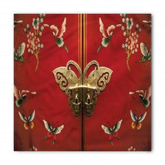 Antika Kapı Desenli Bandana Fular