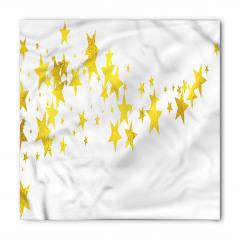 Sarı Yıldız Desenli Bandana Fular