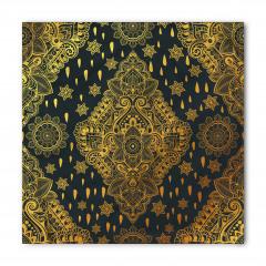 Altın Yıldız Desenli Bandana Fular