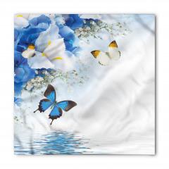 Denizde Kelebek Desenli Bandana Fular