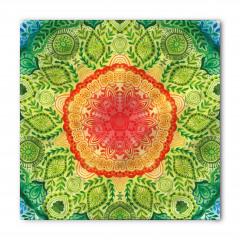 Yeşil Yapraklı Desen Bandana Fular