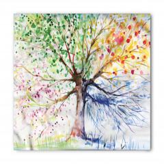 Rengarenk Ağaç Desenli Bandana Fular