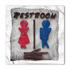 Kadın ve Erkek Tuvaleti Bandana Fular