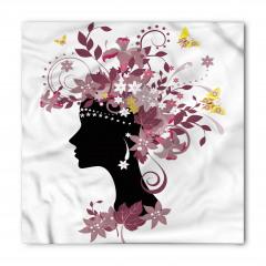 Çiçek Saçlı Kız Bandana Fular