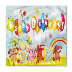 Rengarenk Doğum Günü Bandana Fular