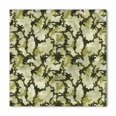 Yeşil ve Bej Kamuflaj Bandana Fular