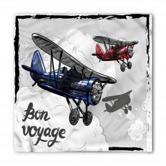 Pervaneli Uçak Desenli Bandana Fular