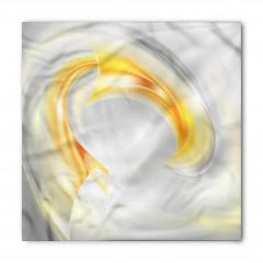 Gri Sarı Dalga Desenli Bandana Fular