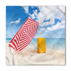 Kırmızı Plaj Şemsiyesi Bandana Fular