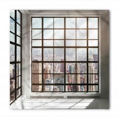 Kahve Ofis Penceresi Bandana Fular
