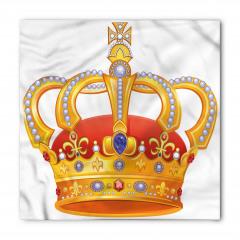 Kral Tacı Desenli Bandana Fular