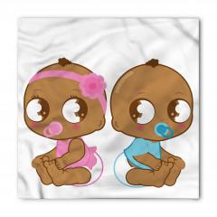 Siyahi Sevimli Bebekler Bandana Fular