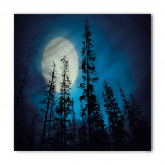 Mavi Gökyüzü ve Ay Bandana Fular