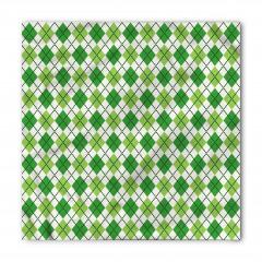 Yeşil Baklava Desenli Bandana Fular