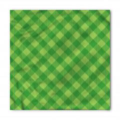Yeşil Pötikareli Kumaş Bandana Fular