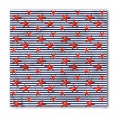 Kırmızı Denizyıldızları Bandana Fular