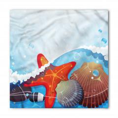 Dalga ve Denizyıldızı Bandana Fular