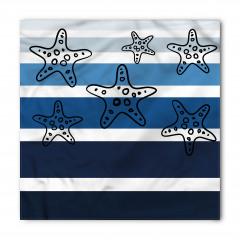 Çizgili Denizyıldızlı Bandana Fular