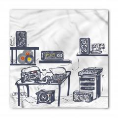 Teyp ve Radyo Desenli Bandana Fular