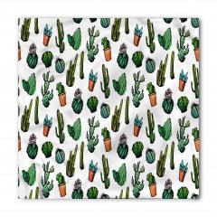 Yeşil Şirin Kaktüsler Bandana Fular
