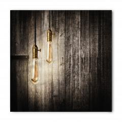 Ahşap Duvardaki Işıklar Bandana Fular