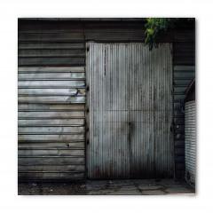 Gri Kapı Desenli Bandana Fular