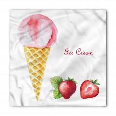 Çilekli Pembe Dondurma Bandana Fular