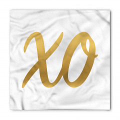 Altın X ve O Bandana Fular