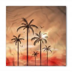 Tropik Ağaçlar Desenli Bandana Fular