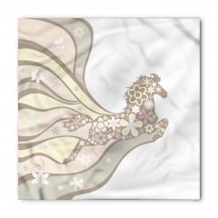 Çiçekli At Desenli Bandana Fular