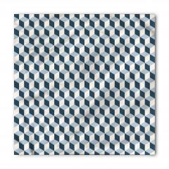 Mavi ve Beyaz Küpler Bandana Fular