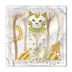 Çiçekli Kedi Desenli Bandana Fular