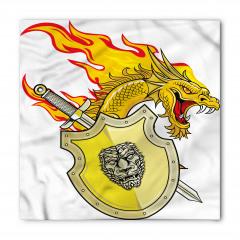 Sarı Ejderha ve Kılıç Bandana Fular