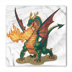 Ateşli Yeşil Ejderha Bandana Fular