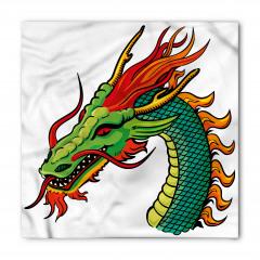 Yeşil Çin Ejderhası Bandana Fular