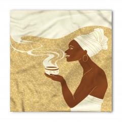 Kahve İçen Afrikalı Bandana Fular