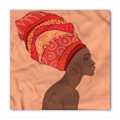 Pembe Türbanlı Afrikalı Bandana Fular