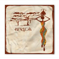 Afrikalı Kadın ve Ağaç Bandana Fular