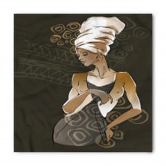 Şık Elbiseli Afrikalı Bandana Fular