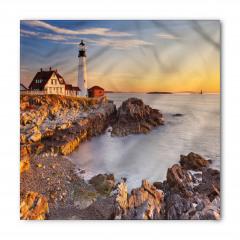 Beyaz Deniz Feneri Bandana Fular