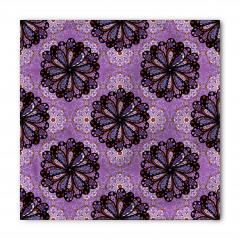 Mor Yapraklı Çiçek Bandana Fular