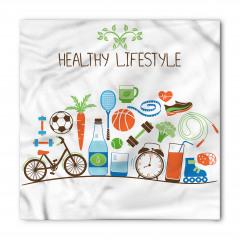 Sağlıklı Bir Hayat Bandana Fular