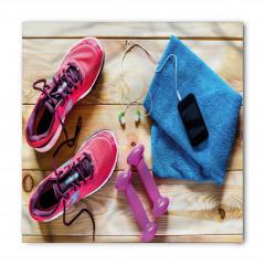 Spor Ayakkabı ve Havlu Bandana Fular