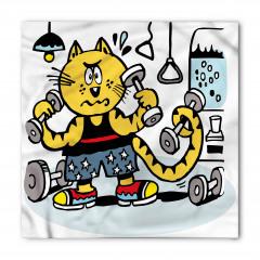Egzersiz Yapan Kedi Bandana Fular
