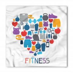 Fitness ve Kalp Bandana Fular