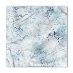 Mavi Beyaz Mermerli Bandana Fular