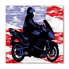 Mavi Motosikletli Adam Bandana Fular